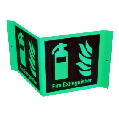 A Frame Signage For Fire Extinguishers Glow in The Dark